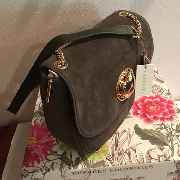 Talbots Handbags - NWT 💥Talbots Olive Green Suede Crossbody